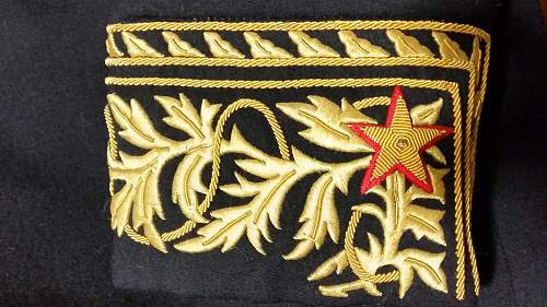 Need help with Russian gold embroided uniform ranks - Marshal of ???