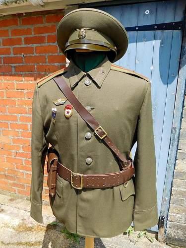 Click image for larger version.  Name:Sov service dress jkt and hat.jpg Views:27 Size:250.8 KB ID:974742