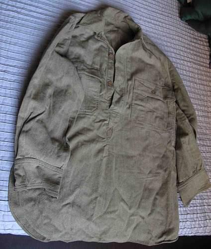 U.S. War Aid British Officers Shirt?