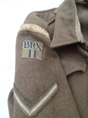 Home Guard '37 Patt' 11th Berkshire (Crowthorne Battalion) BD blouse