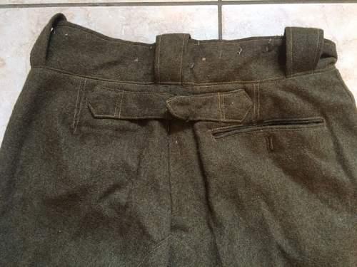 France officer's trouser ww2?