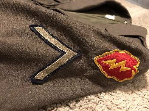 25th Infantry Division Uniform