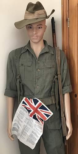 WW2 1945 British Jungle Greens