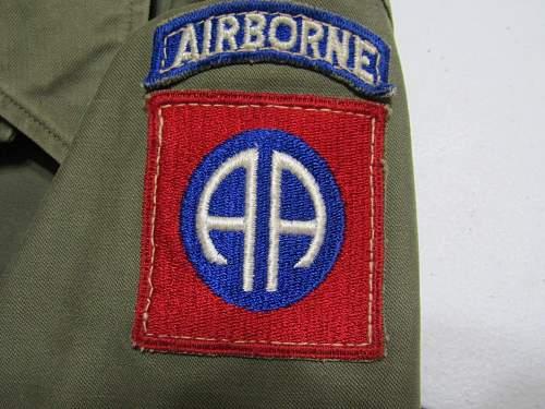 82nd Airborne M43 Field Jacket?