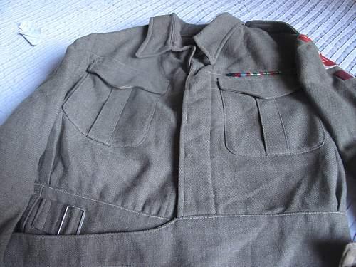 BD blouse badged to a Lieutenant of the 1/6 Battalion, East Surrey Regiment , 4th Division