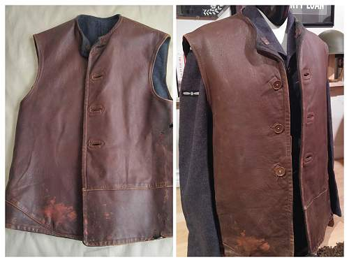 British made Canadian Issued Leather Jerkin
