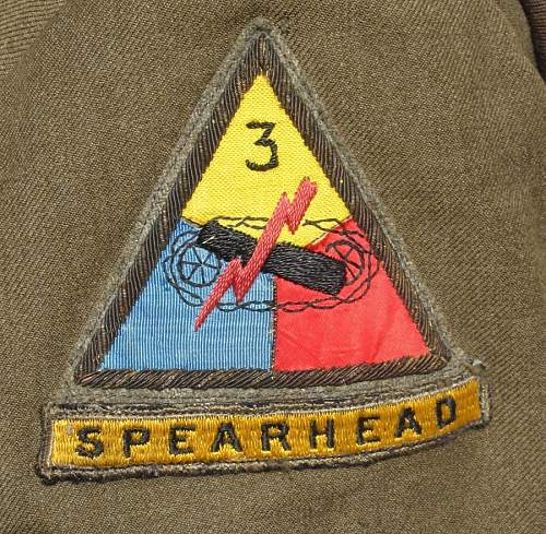 32nd Armored Ike w/ German Made 3rd Armored Patch
