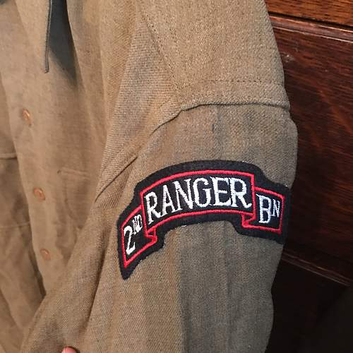 2nd Rangers / 4th armored division Ike jacket