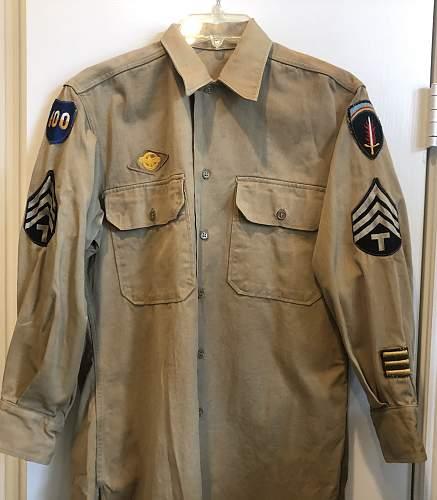 SHAEF Patched Khaki Shirt