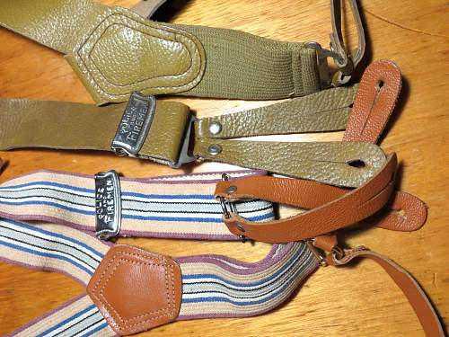 WWII Canadian trouser suspenders
