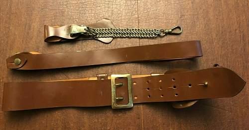 US Army WW2 officer dress belt?