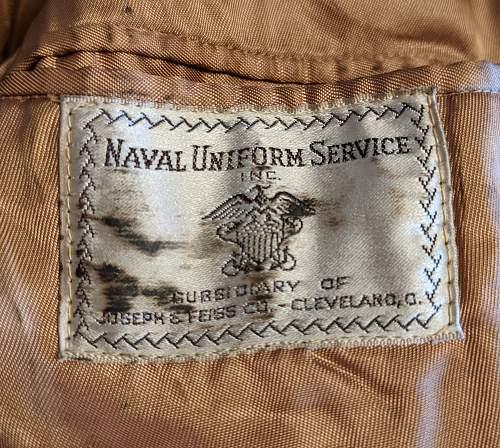 US Navy Line Officer JG Lt Lightweight Tunic
