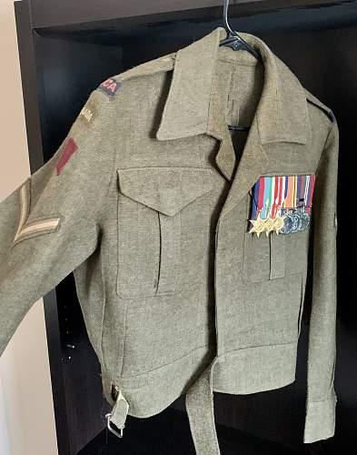 17th Field Regiment RCA Battledress Blouse