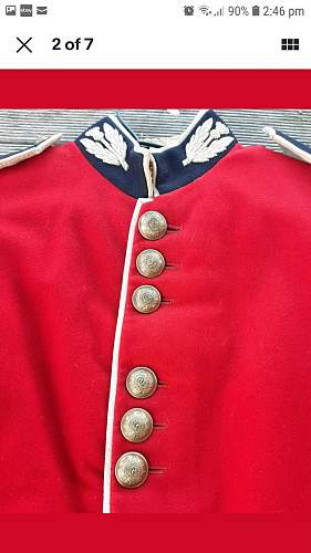 Scots Guards dress tunic