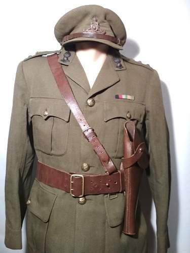British Royal Artillery captains uniform