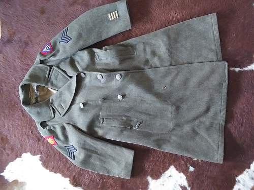 45th Inf. 5th Arm. trench coat - my first uniform