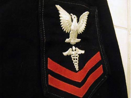 Who can tell me the age and rank of this Navy Uniform?
