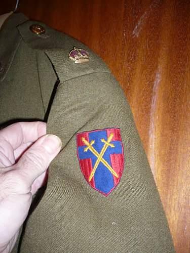 Majors tunic RAOC 21st army group