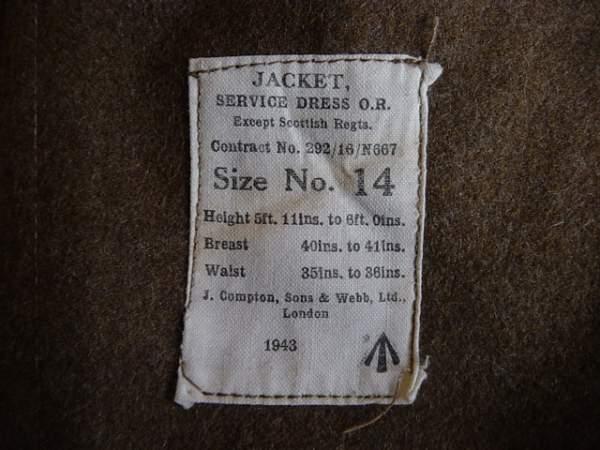 WW2 Other Ranks Service Dress Jacket.
