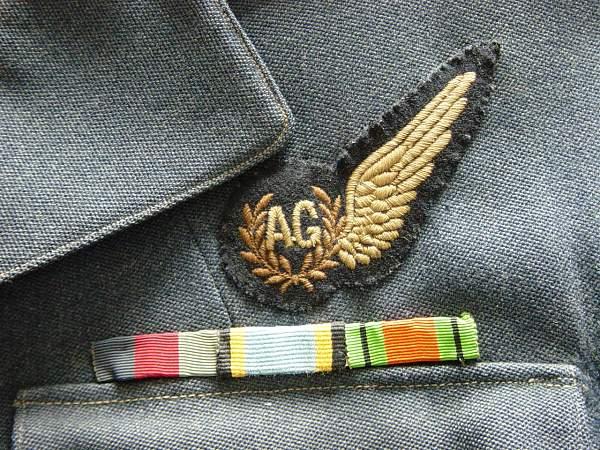 RAF Air gunners uniform group
