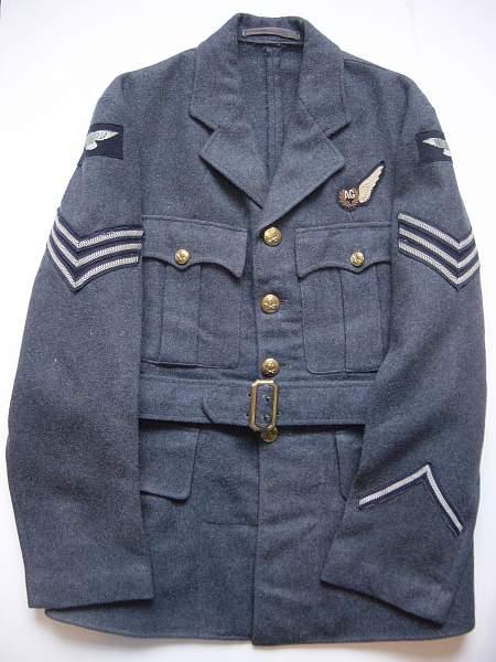 Click image for larger version.  Name:RAF Service Dress jacket. Sgt Air Gunner..jpg Views:3112 Size:283.6 KB ID:19067