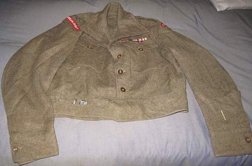 BD blouse: Major Chetwode of Coldstream Guards