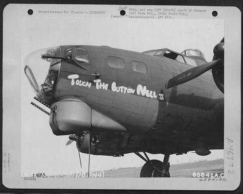 381st Bomb Group 535th bomb squad A2 Jacket with nose art & original patch.