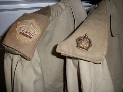 British WW2 Khaki Drill Bush Jackets