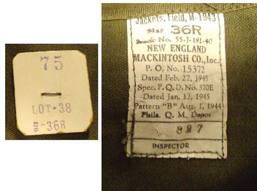 Click image for larger version.  Name:M1943 Jacket Tags second.jpg Views:169 Size:55.8 KB ID:241506
