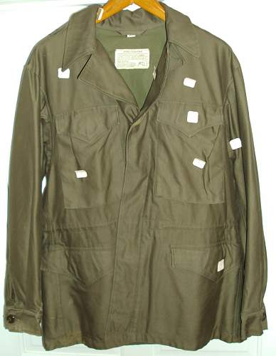 Click image for larger version.  Name:M1943 jacket front second.jpg Views:340 Size:118.6 KB ID:241508