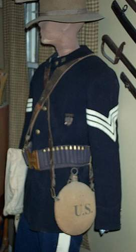 Sgt William W. Conner 6th Mass, Spanish American War Uniform