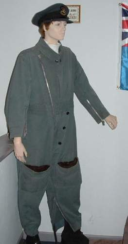 RAF 1941 Pattern Sidcot flying suit, battledress and trousers
