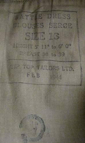 Paul Triquet's VC battle dress blouse?