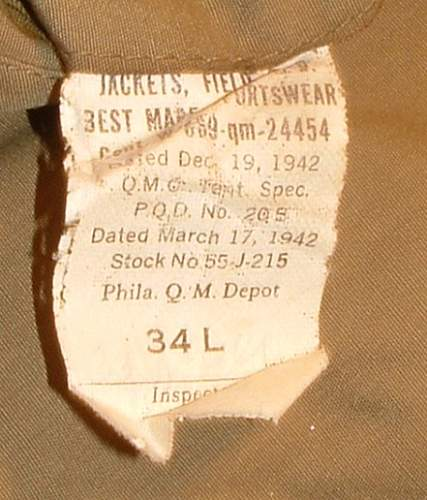 Click image for larger version.  Name:M1941 Field Jacket Date Tag.JPG Views:49 Size:86.6 KB ID:261763