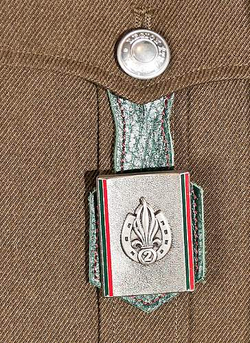 Would like to confirm if the French Foreign Legion uniform and other items are genuine