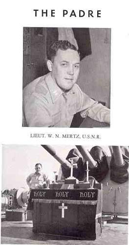 WW2 Navy Chaplains uniform  USS OKLAHOMA CITY