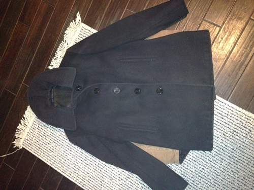 Help with ID of Single Breasted Navy Pea Coat