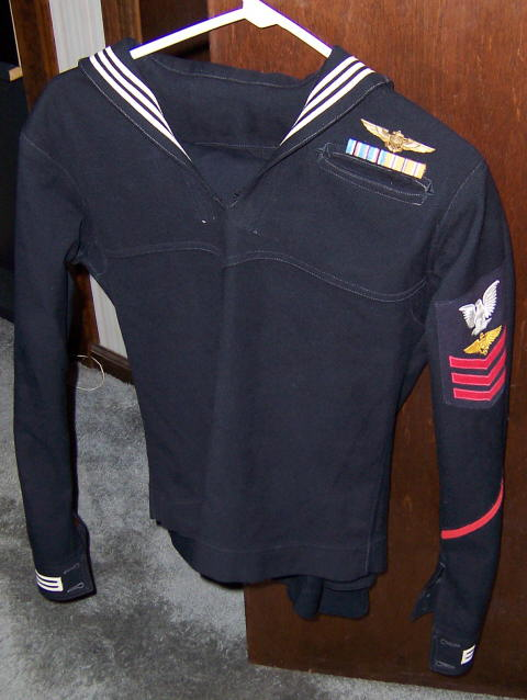 Ww2 u.s. Navy enlisted pilot uniform group