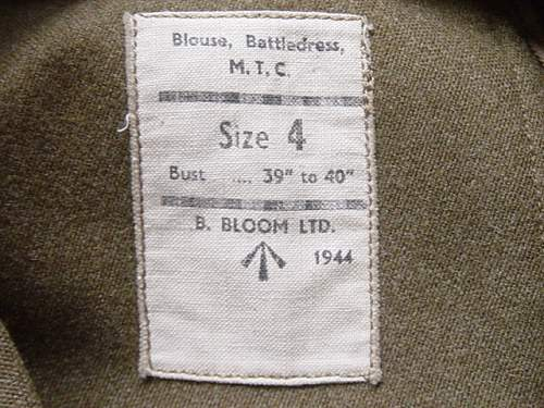 Help please with a WW2 British Army Clothing Manufacturer ( ARTHUR MILLER )