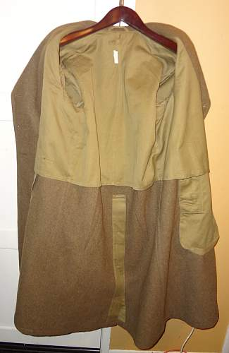Worth of US overcoat?