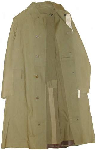 Canadian Army trenchcoat