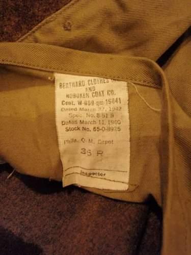 American Winter Coat WW2?