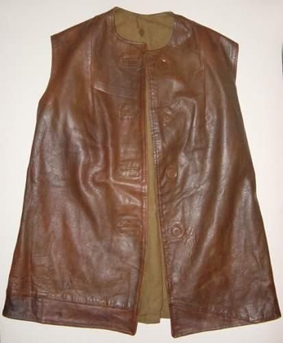 ATS first pattern leather jerkin