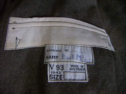 1942 Australian tunic v93