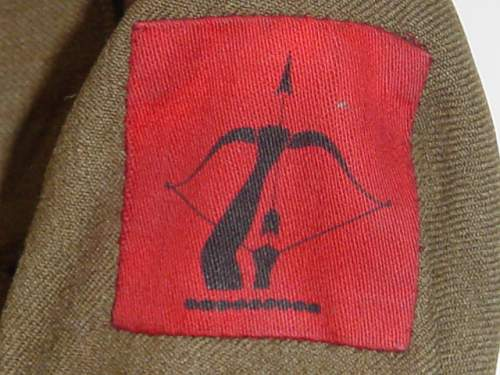 ATS 1938 pattern service dress: Anti-Aircraft Command (named)