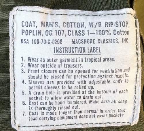 1970 Vietnam tunic