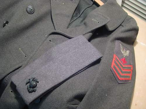 US WWII Greatcoat, Side cap and Letter