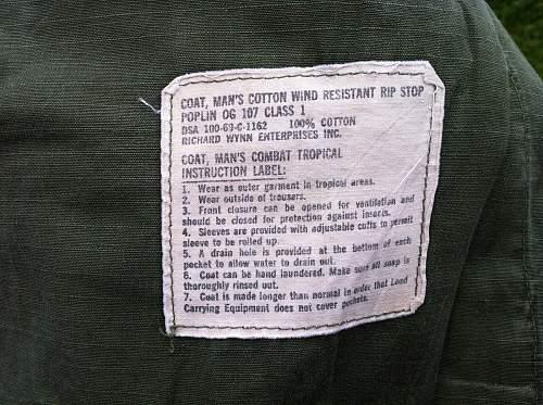 1969 Us Vietnam jacket