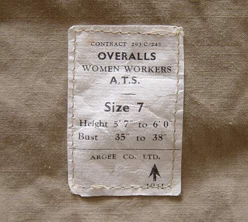 Overalls, women workers, ATS (Four styles shown)