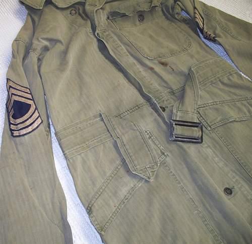HBT coveralls w/ 809th TD Battalion provenance